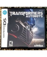 Transformers: Autobots (Nintendo DS, 2007) Complete With Instruction Manual - $8.91