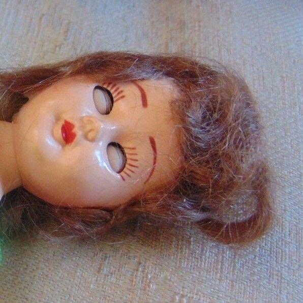 "Vintage Original Lingerie Lou Doll 9""-Hard Plastic Posable Open&Close SleepyEyes"
