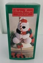 Hallmark Stocking Hanger Polar Bear Plush Fishing Fisherman Present Xmas... - $49.49