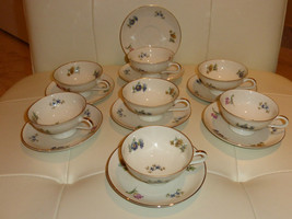 Thomas Bavaria Germany Vintage Cups and Saucers - Set of 7 Plus an Extra... - $99.00