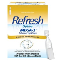 Refresh Optive Mega-3 Preservative Free Eye Drops 30ct - $18.99