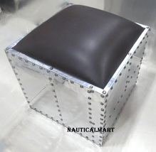 NauticalMart Aviator Side Sofa Modern Stool - $699.00