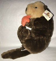 "Sea Otter Brown w/ Shiny Orange Starfish Plush Stuffed Animal Unipak 14""... - $19.79"
