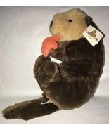 "Sea Otter Brown w/ Shiny Orange Starfish Plush Stuffed Animal Unipak 14""... - $19.79"