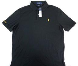 NWT Polo Ralph Lauren Men's 100% Cotton Black Short Sleeve Polo Shirt Large - $54.64