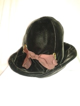 Vintage 60's Frank Olive Designs Woman's Hat, Velvet, Chocolate Brown w/... - $40.00