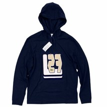 Lacoste Hooded T-Shirt Navy Blue Graphic Print Long Sleeve Lightweight Hoodie - $54.99