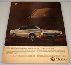 1968 Cadillac Eldorado ~ Original Print Ad ~ GM Auto Car - $11.40