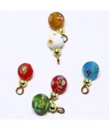 6 Flower Glass Ornaments Christmas dhs49219 Doll House Shoppe Miniature - $7.00