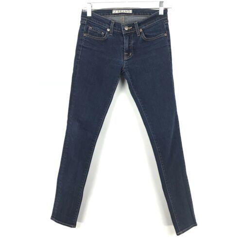 J Brand Damen Größe 24 Skinny Knöchel Jeans mit Dunkel Gewaschener Denim Blau