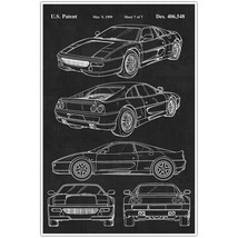 Ferrari 360 Patent Blueprint Poster, Car Photo Art - $11.39+