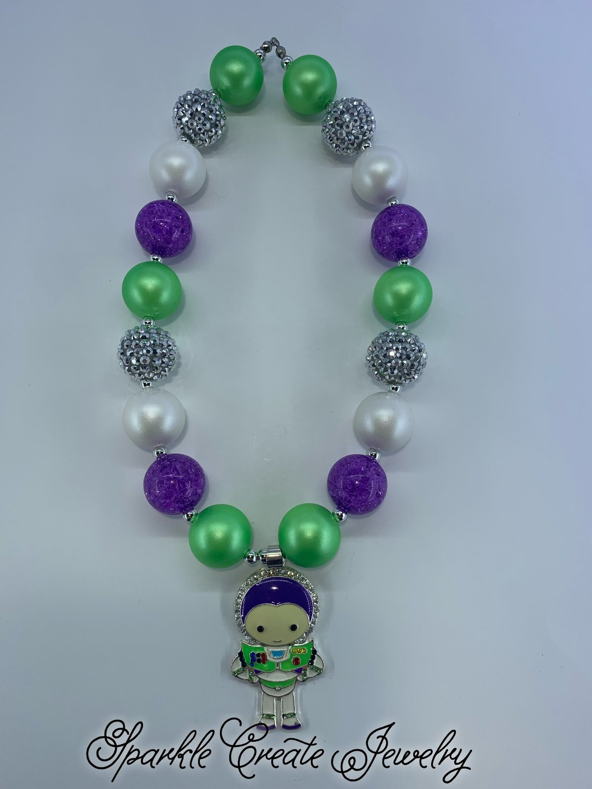 Buzz Lightyear Chunky Bubblegum Necklace