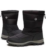 Owarrla Women Men Waterproof Snow Boot 6.5, Black - $31.61
