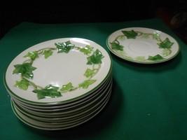 "Great FRANCISCAN ""Ivy"" Earthware. 7 BREAD-SALAD-DESSERT Plates 6.25"" & F... - $36.22"