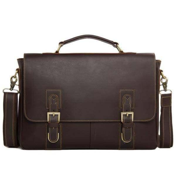Sale, Vintage Leather Messenger Bag, Men's Leather Briefcase