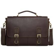 Sale, Vintage Leather Messenger Bag, Men's Leather Briefcase image 1