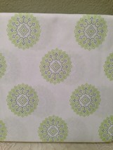 Cynthia Rowley APPLE GREEN & BLUE GREY CIRCLE MEDALLIONS TWIN XL SHEET S... - $37.62