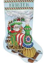 Design Works Santas Train Christmas Holiday Cross Stitch Stocking Kit 5997 - $32.95