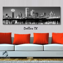 Single panel Art Canvas Print City Skyline Dallas tx Downtown Wall Home ... - $54.99+
