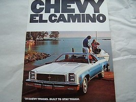 1977 CHEVY  EL CAMINO  OWNERS  SALES BROCHURE PARTS  SERVICE TRUCK - $24.99