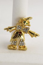 VINTAGE Jewelry HIGH END UNSIGNED RHINESTONE CLOWN FIGURAL BROOCH - $10.00