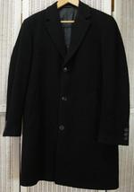 "HUGO BOSS Men's ""Stratus"" Coat Size 48 Topcoat Black Wool-Cashmere Outerwear - $272.54"