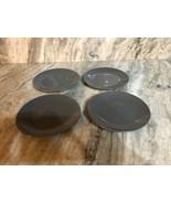 "Royal Norfolk Royal Gray 7 1/2""Stoneware Dinnerware Saucer Plates Set Of... - $29.28"
