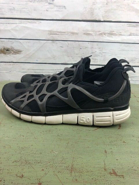 NIKE Free 5.0 USATF mens size 11.5 black lace up tennis shoes sneakers