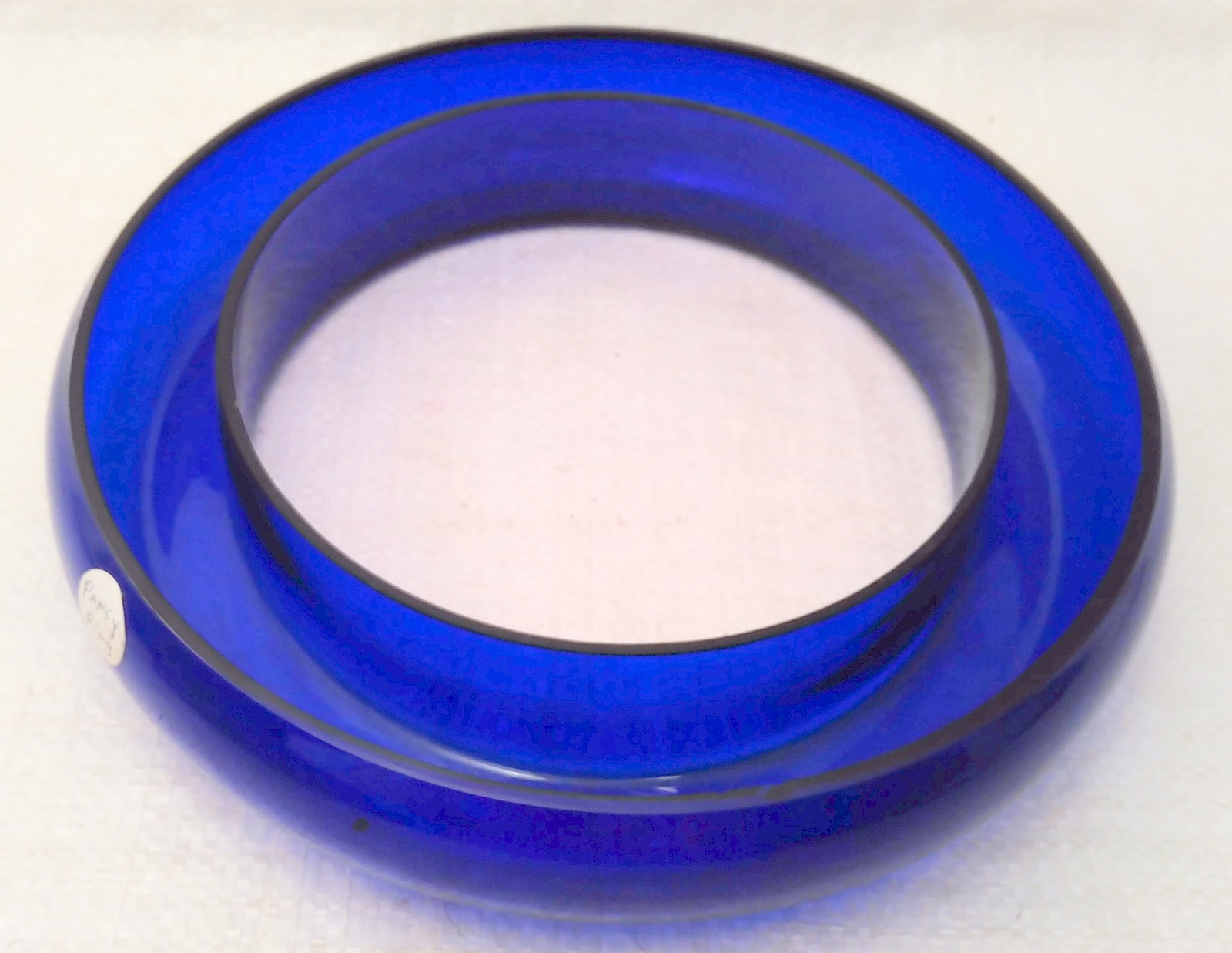 Cobalt Glass Posy / Pansy Ring Vase VERY RARE!