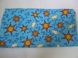 "Flannel Blue & Yellow Sun & Clouds Quilting Fabric JoAnn Fabrics 34"" x 48"" - $9.55"
