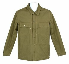 J Crew Wallace Barnes Mens Herringbone Shirt Jacket Fleece Lined Coat XS K6112 - $73.59