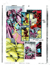 "Original 1998 Daredevil 375 page 29 Marvel Comics 11 by 8 1/2"" color gui... - $49.49"