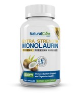 Natural Cure Labs Extra Strength Monolaurin 800mg, 100 Capsules, 33% More - $27.95