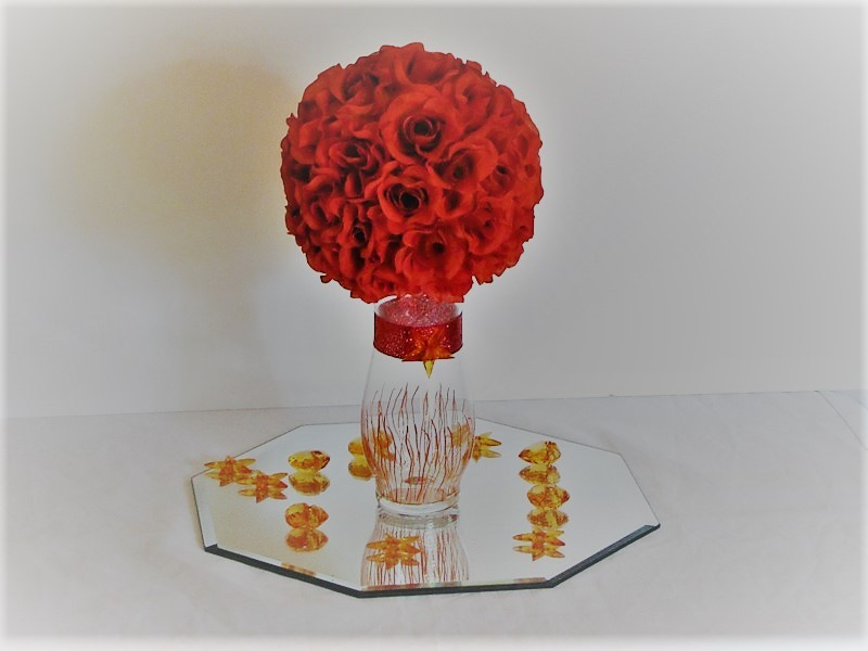 Wedding Centerpiece Silk Flower Kissing Ball And 15 Similar Items
