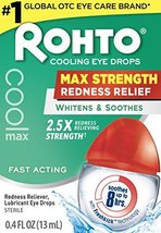 Rohto Cool Max Maximum Redness Relief Cooling Eye Drops, 0.4 Ounce, 3 Count image 3