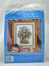 Candamar Designs Basket Bouquet #50627 Counted Cross Stitch Kit - NEW Sealed - $14.20