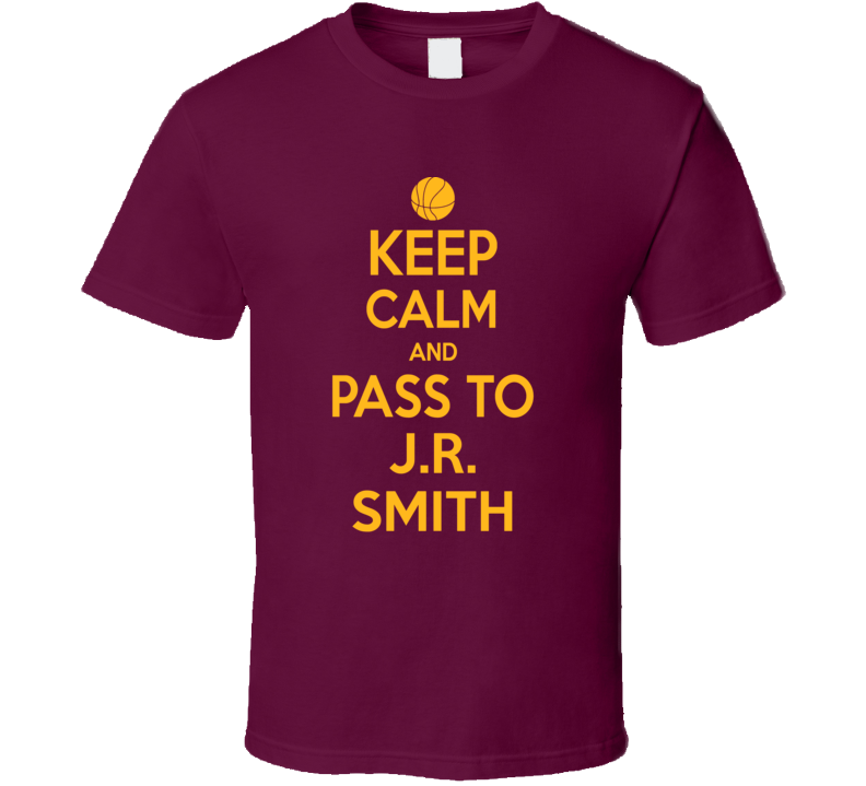 Primary image for Keep Calm J.r. Smith Cleveland Basketball Ream Fan Supporter T Shirt
