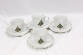 Jamestown Xmas Treasure Bowls Cups Saucers Lot of 12 image 2