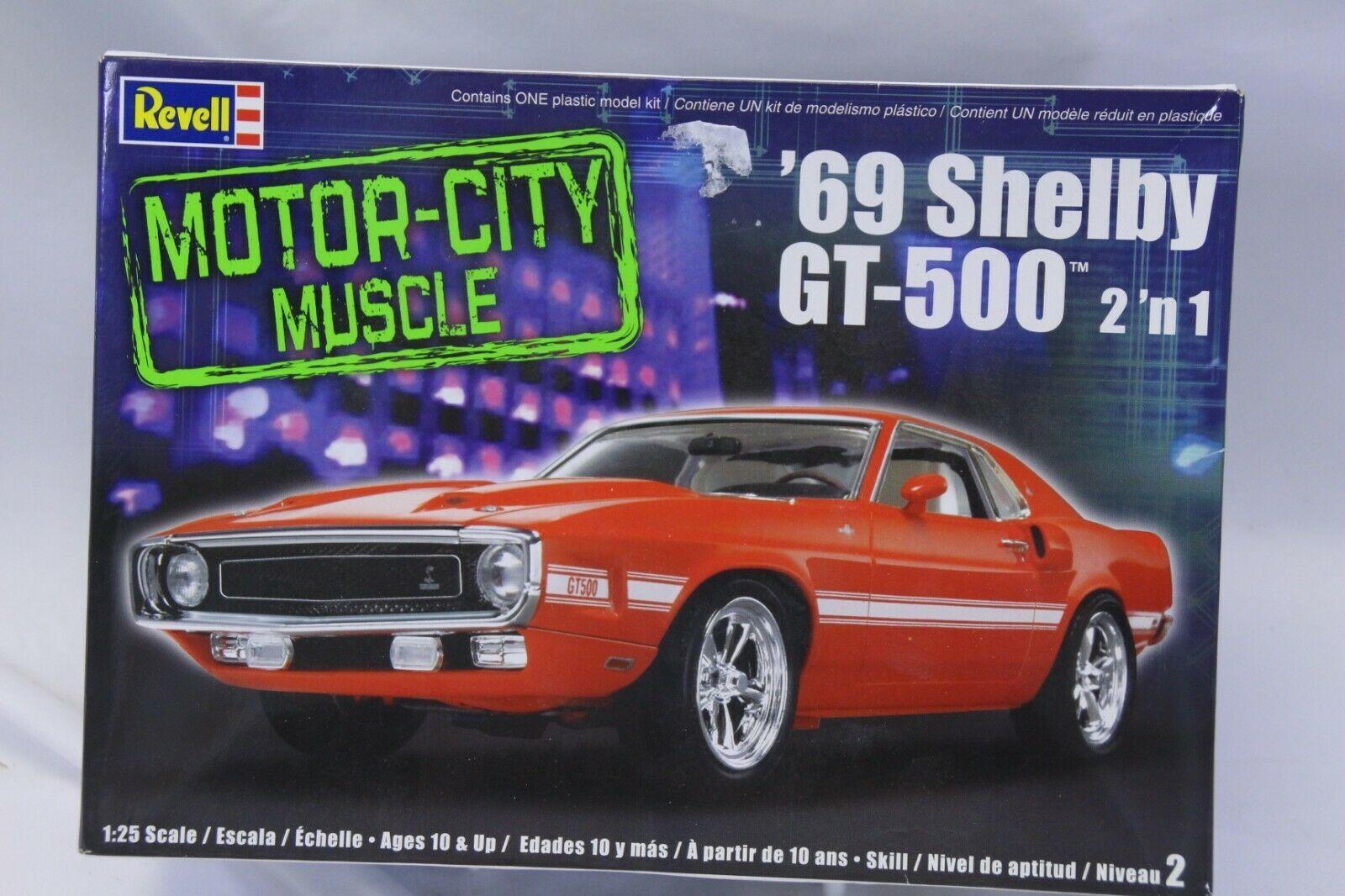 1969 Shelby GT500 Mustang Revell Model Motor City 2-1Kit