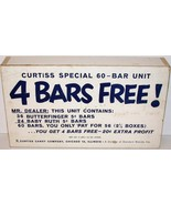 Vintage candy box CURTISS SPECIAL 60 BAR UNIT 4 Bars Free Baby Ruth Butt... - $9.99
