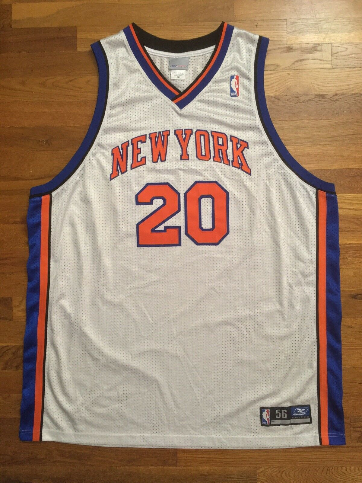 Primary image for Authentic 2003 Reebok New York Knicks NYK Allan Houston Home White Jersey 56
