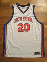Authentic 2003 Reebok New York Knicks NYK Allan Houston Home White Jerse... - $309.99