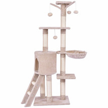 "56"" Condo Scratching Posts Ladder Cat Play Tree - £48.33 GBP"