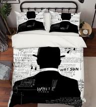 3D Suit Men 225 Bed Pillowcases Quilt Duvet Single Queen King US Summer - $102.84+
