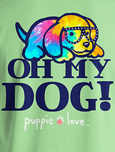 Puppie Love Rescue Dog Adult Unisex Short Sleeve Cotton Tee,Oh My Dog Pup image 2