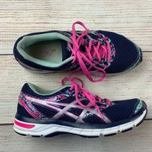 Asics womens Gel Excite 4 Navy Pink Running Shoes Sneakers 10/ 42 EUC - $35.00