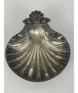Silver Plated Clam Shell Dish Tray Sheffield England Reproduction Made i... - $20.07