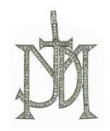 1.10 TCW Natural Diamond Pave Monogram Pendant in 925 Sterling Silver - $296.99