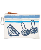 STYLE & CO SHADE Light Beige Canvas Beach Summer Pouch Bag  Msrp $28.50 - $17.81