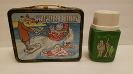 "Vtg. 1974 ""The Addams Family"" Metal Lunch Box & Thermos GC Vintage Collectible - $148.48"